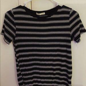 Black & white stripes shirt .